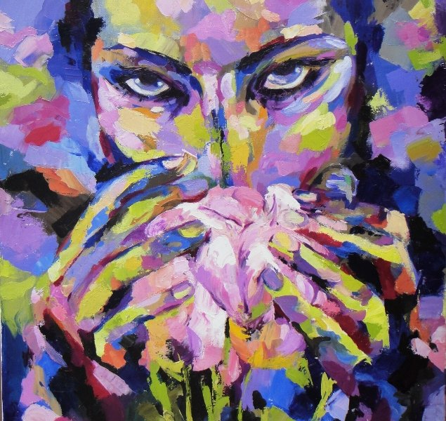 Aroma of Spring, 30 x 30 inch, oil on canvas, sold
