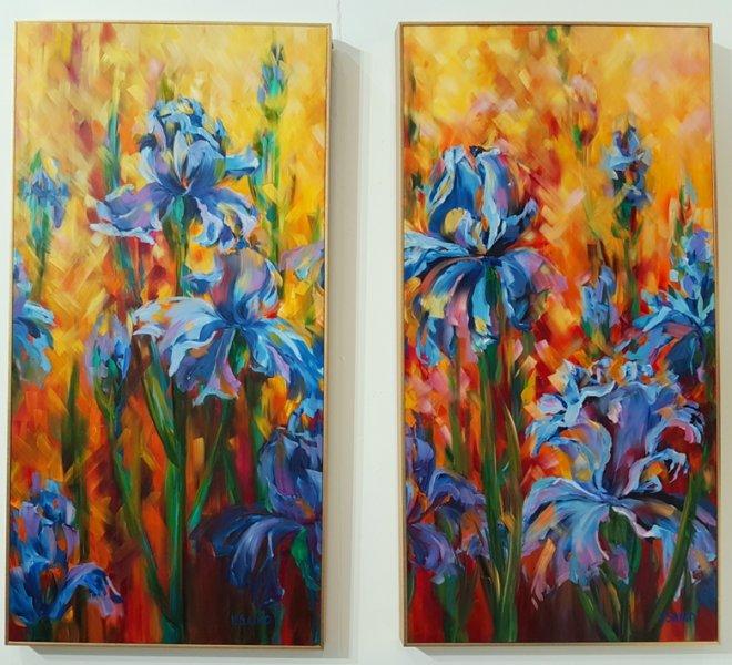 Irises, Diptych