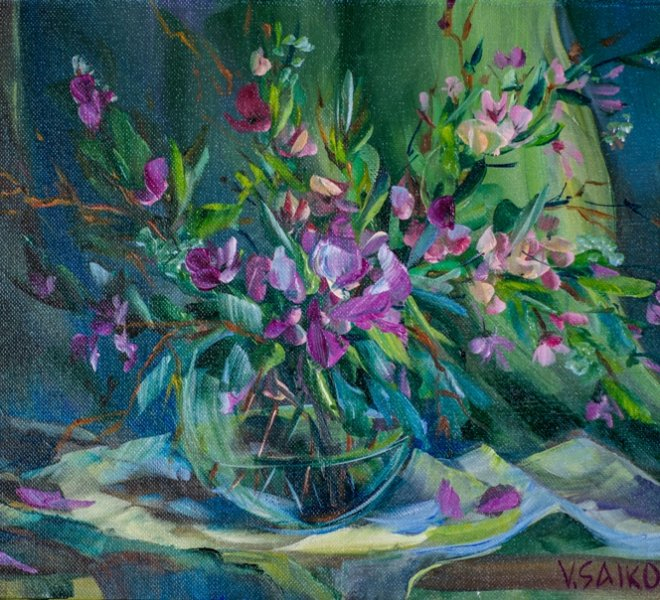 Smell of Spring, 16 x 12 inch, oil on canvas, sold