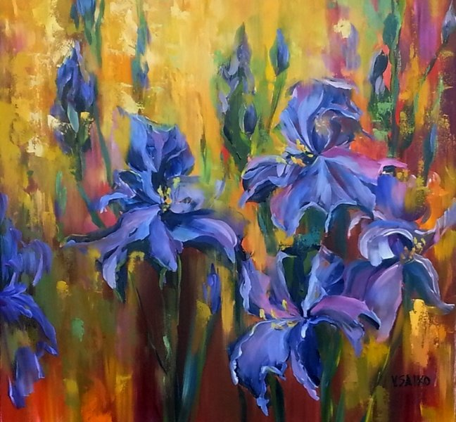 Spring Elegance, 36 x 36 inch, oil on canvas, sold
