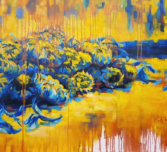 Sunny Harvest, 36 x 30 inch, oil on canvas