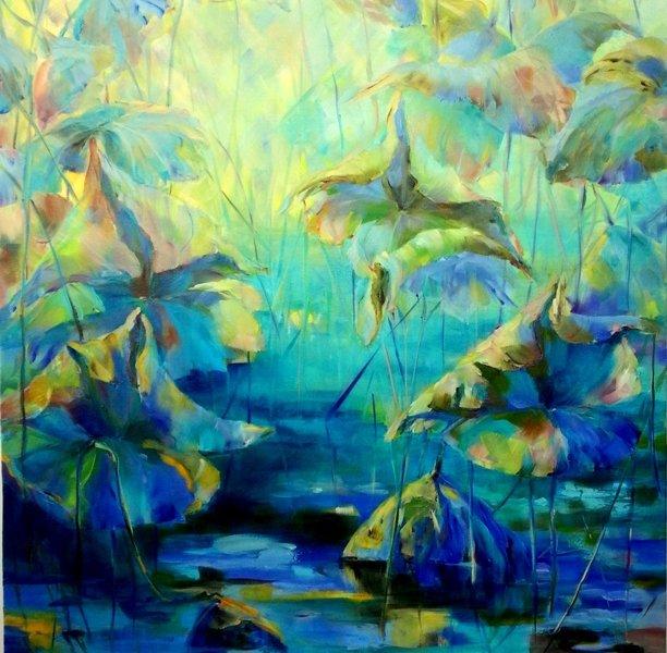 Sunrise, oil on canvas, 40 x 30 inch, oil on canvas
