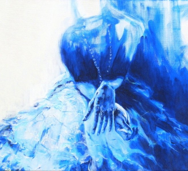 Untitled Blue, 22x28 inch, acrylic on canvas