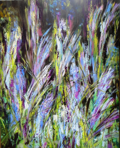 Wind in Grass, 24 x 30 inch, oil on canvas